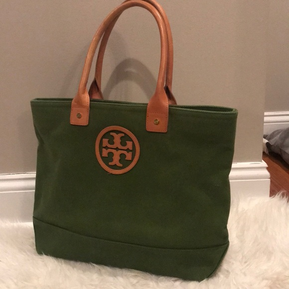 21407daab Tory Burch Bags | Canvas Tote Bag | Poshmark